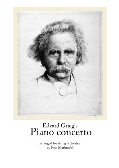 Grieg piano concerto arranged for string orchestra