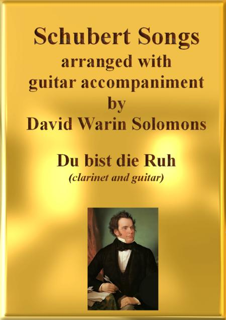 Du bist die Ruh  for clarinet and guitar