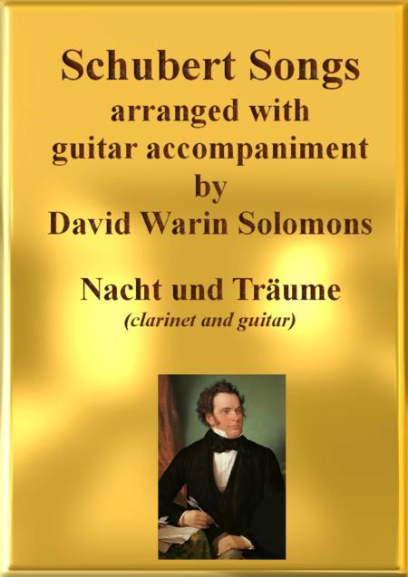 Nacht und Träume (Heil'ge Nacht du sinkest nieder) for clarinet and guitar
