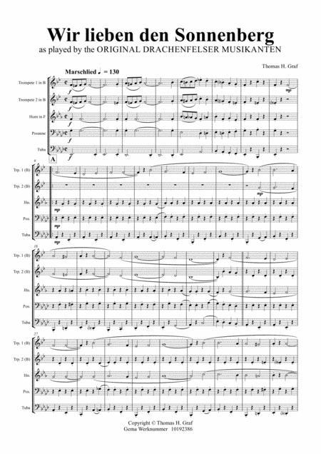 Wir lieben den Sonnenberg - German Polka - Oktoberfest - Brass Quintet