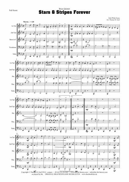 Stars and Stripes forever - Sousa - Brass Quintet
