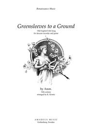 Greensleeves variations for descant recorder and guitar