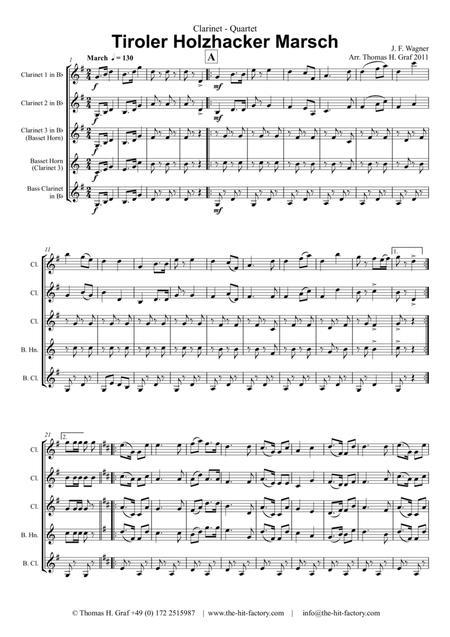 Tiroler Holzhacker Marsch - German Polka March - Oktoberfest - Clarinet Quartet