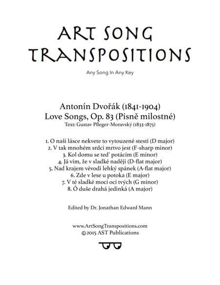 Love Songs, Op. 83 (Original key)