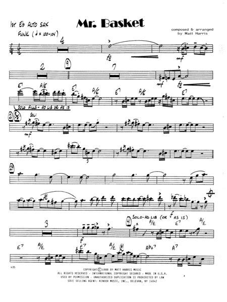 Mr. Basket - 1st Eb Alto Saxophone