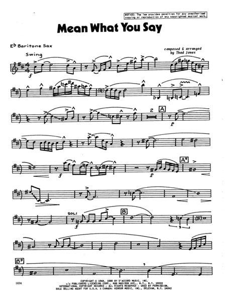 Mean What You Say - Baritone Sax