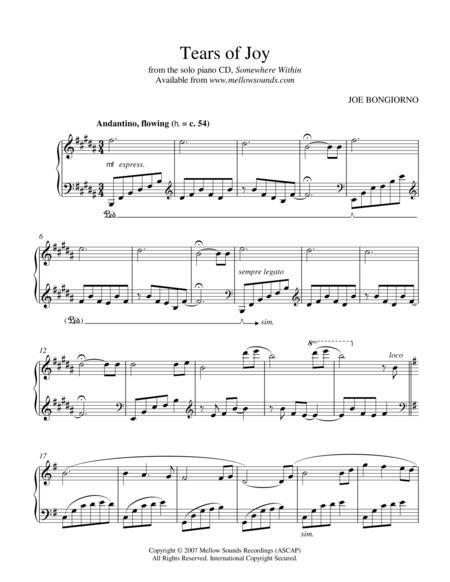 Tears of Joy - by Joe Bongiorno