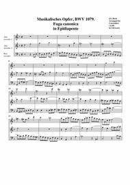 Fuga canonica in Epidiapente from Musikalisches Opfer, BWV 1079 (arrangement for 3 recorders)
