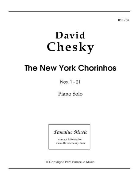 The New York Chorinhos For Solo Piano