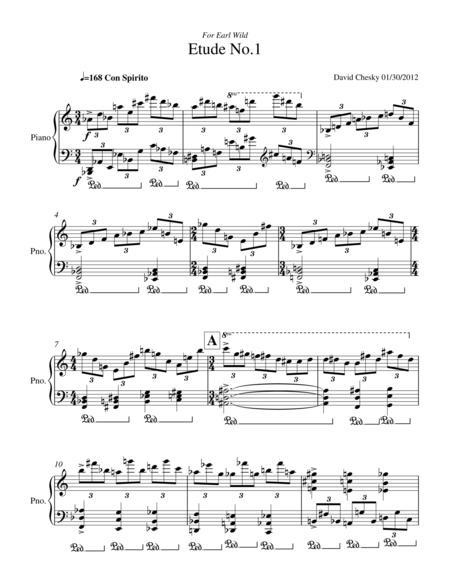 Etude No.1 for Solo Piano