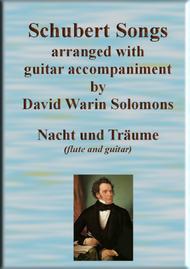 Nacht und Träume (Heil'ge Nacht du sinkest nieder) for flute and guitar