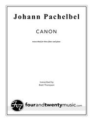 Canon - transcribed for three flutes and piano