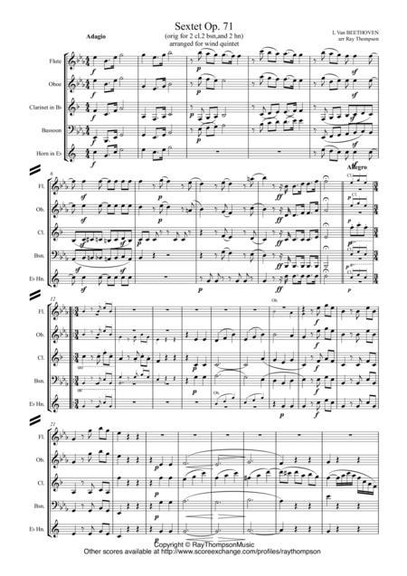 Beethoven: Wind Sextet Op.71 - wind quintet
