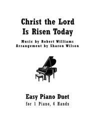 Christ the Lord Is Risen Today (Easy Piano Duet - 1 Piano, 4 Hands)