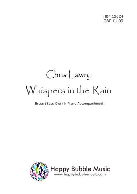 Whispers in the Rain - for Low Brass [Bass Clef] & Piano (from Scenes from a Parisian Cafe)