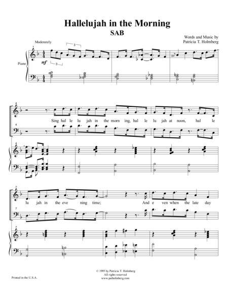 Hallelujah in the Morning - SAB