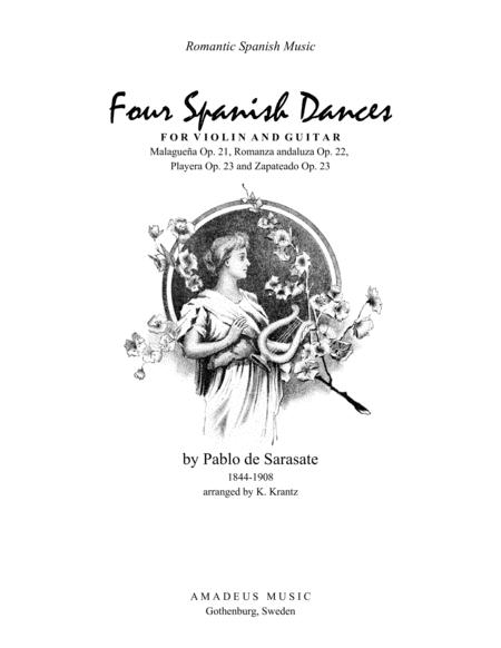 4 Spanish Dances by Sarasate for violin and guitar
