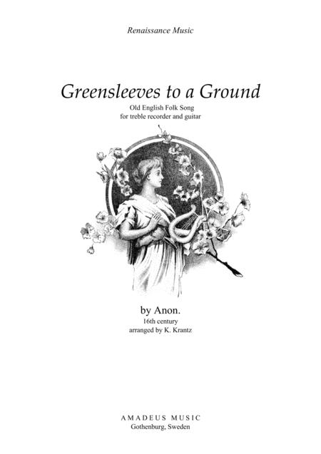 Greensleeves variations for treble recorder and guitar