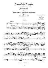 J.S.Bach - Violin Concerto in E major BWV 1042 - Piano solo - 1° mov. Adagio