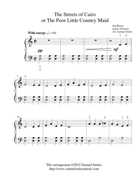 The Streets of Cairo or the Poor Little Country Maid - for easy piano