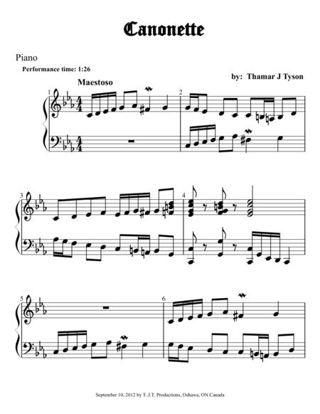 Canonette for Piano