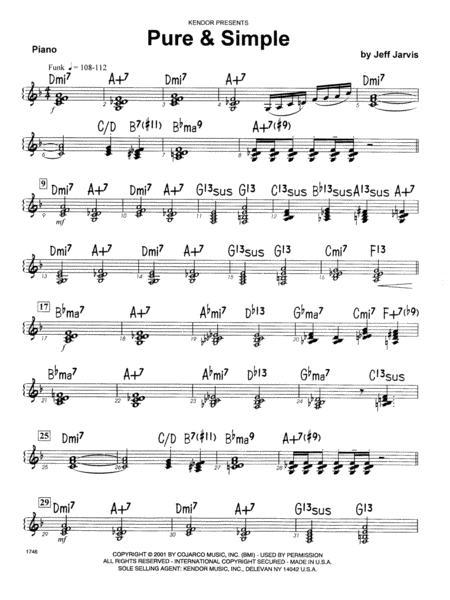 Pure & Simple - Piano