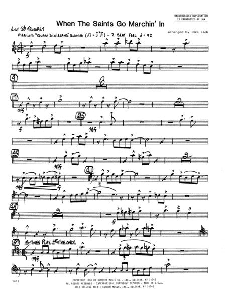 When the Saints Go Marching In - 1st Bb Trumpet