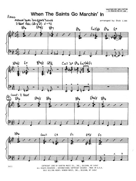 When the Saints Go Marching In - Piano