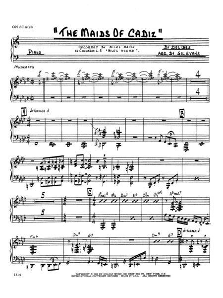 Maids Of Cadiz - Piano