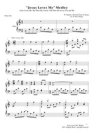 Jesus loves me piano sheet music for beginners