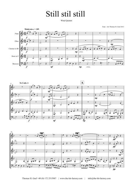 Still Still Still - Christmas song - Wind Quintet
