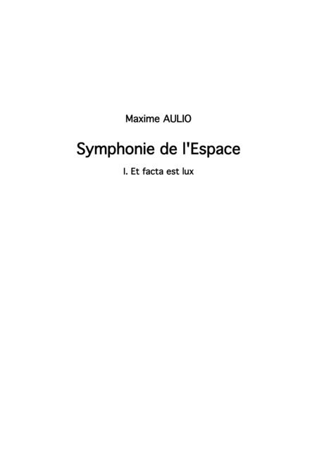 Symphonie de l Espace (Symphony of Space) - CHOIR parts (complete symphony)