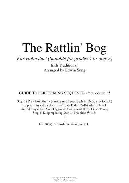 The Rattlin' Bog (for violin duet, suitable for grade 4 or above)