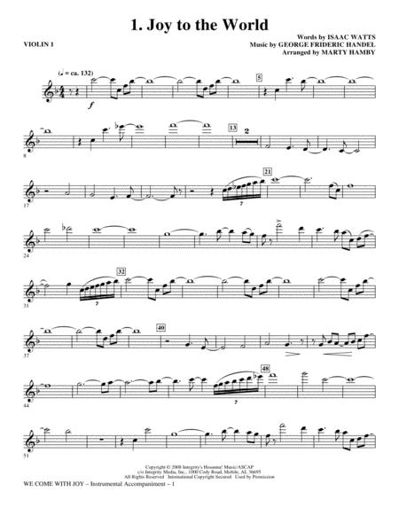 We Come With Joy Orchestration - Violin 1