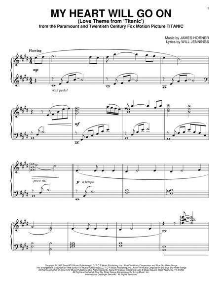 Download My Heart Will Go On Sheet Music By James Horner Sheet
