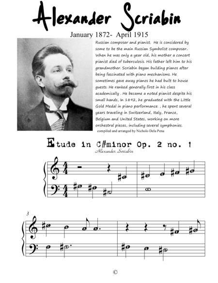 Alexander Scriabin for Begginer Pianist