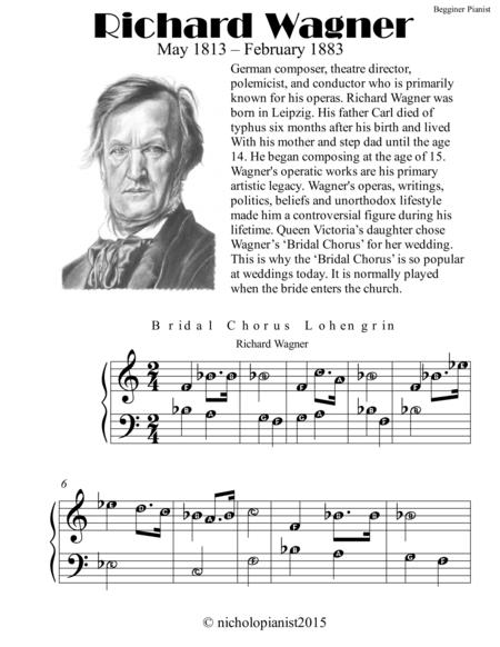 Richard Wagner for Begginer Pianist