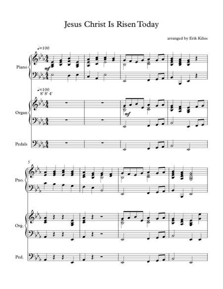 Jesus Christ is Risen  Today - (Easter Hymn) - Piano and Organ Duet