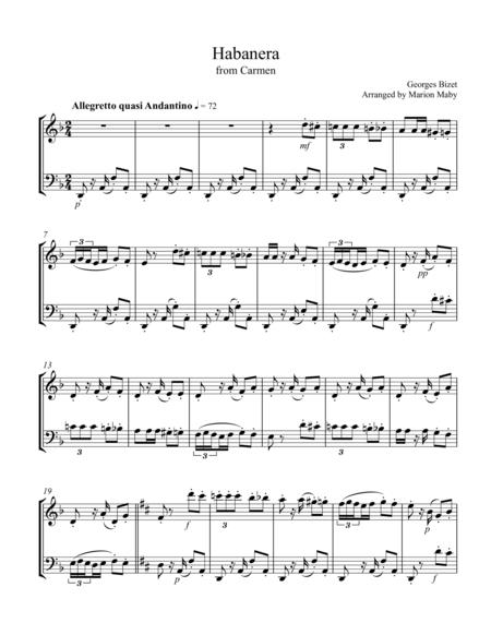3 Arias from Carmen, for violin & cello duet