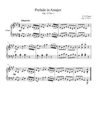 Prelude in A major Op. 12 No. 1