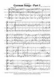 German Songs Part 1 - Oktoberfest - Clarinet Quartet