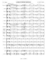 Largo from Xerxes - Score