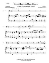 CROWN HIM WITH MANY CROWNS (Duet – Trombone and Piano/Score and Parts)