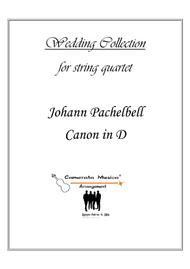 Canon in D-Weddind version for string quartet / optional part for Double Bass
