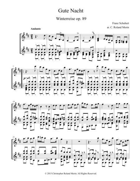 Gute Nacht, Winterreise By Franz Schubert (1797-1828