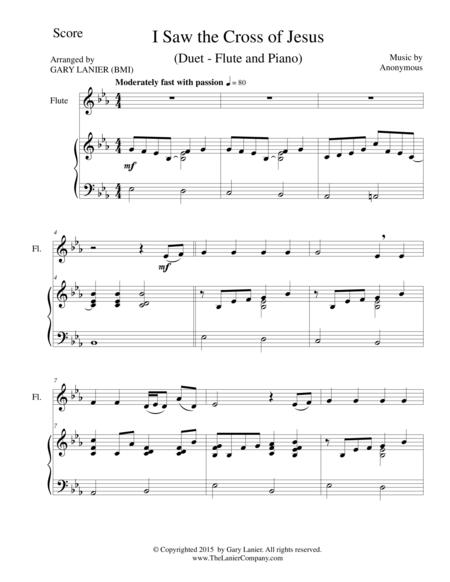 I SAW THE CROSS OF JESUS (Duet – Flute and Piano/Score and Parts)