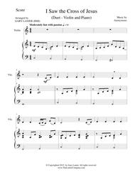 I SAW THE CROSS OF JESUS (Duet – Violin and Piano/Score and Parts)