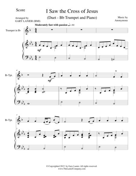 I SAW THE CROSS OF JESUS (Duet – Bb Trumpet and Piano/Score and Parts)