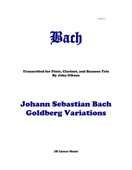 J. S. Bach Goldberg Variations set for flute, clarinet, and bassoon - PARTS