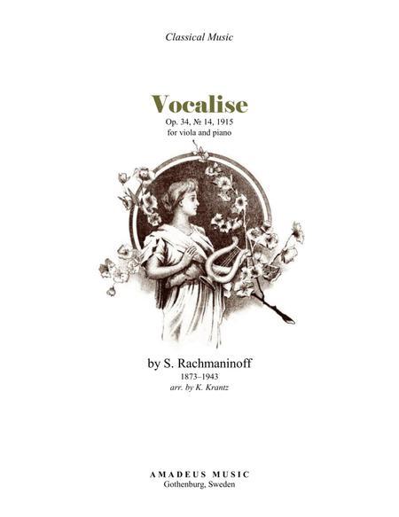 Vocalise Op. 34 for viola and piano
